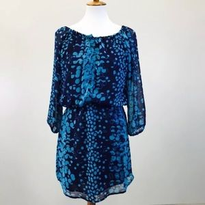 Sanctuary Navy Blue Dress XS Dot Print